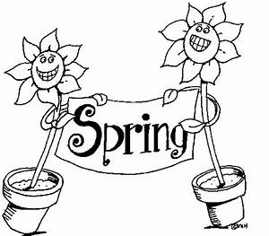Spring Clipart Black And White Many Interesting Cliparts
