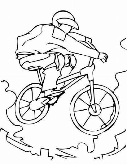 Bmx Coloring Pages Extreme Bike Printable Sports