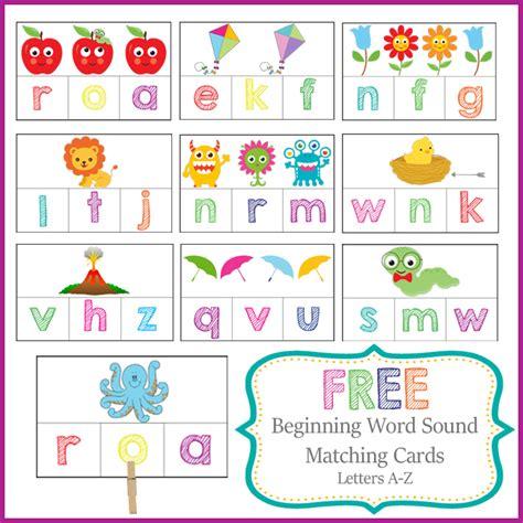 Free Beginning Sounds Cards Pack  Free Homeschool Deals