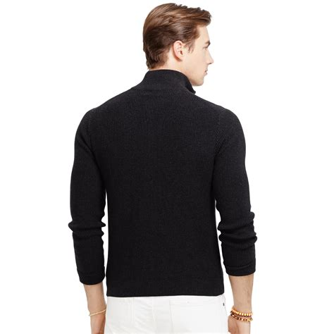 ralph polo sweaters polo ralph cotton zip sweater in black for