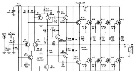 Audio Amplifier Circuit Diagram Nerv