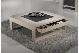 Table Salon Carrée : table basse le meuble indispensable du salon ~ Teatrodelosmanantiales.com Idées de Décoration