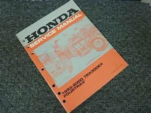 1997 1998 1999 2000 Honda Trx300ex Fourtrax Atv Shop