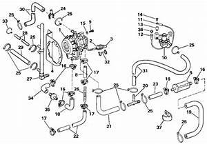 Evinrude Vro2 Pump Parts For 1988 150hp E150tlcca Outboard