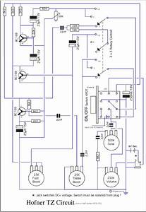 Hofner 500  1 Bass Guitar Schematic Diagram