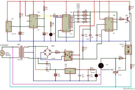 Remote Controlled Triac Light Dimmer Circuit Diagram