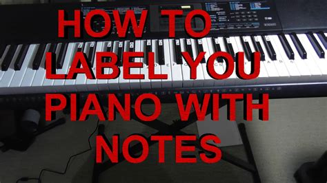 How To Label Your Keyboard / Piano With Letters