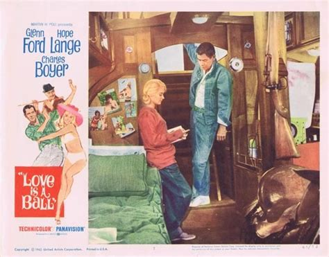 love   ball  glenn ford hope lange lobby card