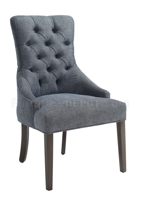 902912 accent chair set of 2 in indigo fabric by donny osmond