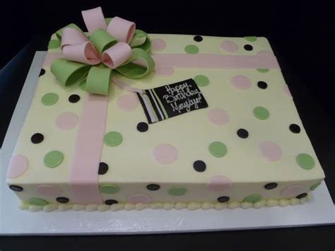 sheet cakes pink and green polka dot sheet cake mom s 90th birthday ideas pinterest birthday cakes