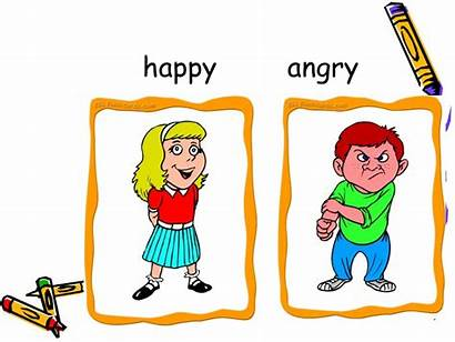 Adjectives Clipart Comparison Adjective Cliparts Happy Angry