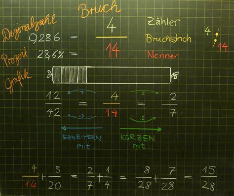 mathematik geometrie tafelbilder bruchrechnen brueche