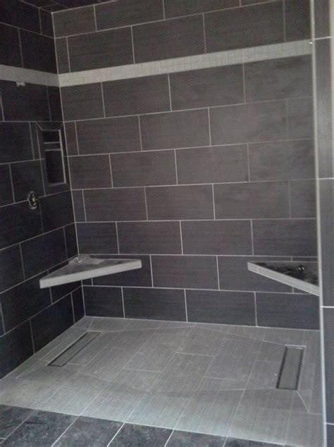 Tiled Shower Pan - tile shower base wall panel replacement ideas innovate