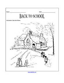Back to School Coloring Worksheets