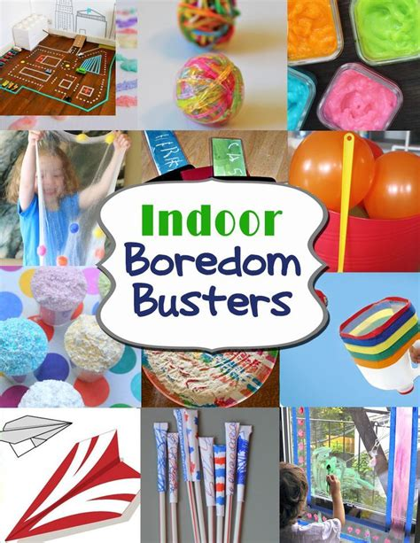 Indoor Boredom Busters Rainy day activities for kids