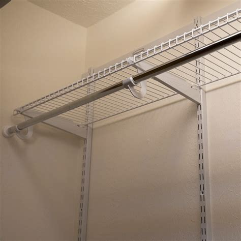 Installing Wire Shelving In Closets by How To Install Wire Closet Shelves Wiring Diagram And