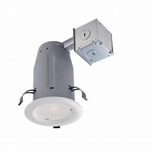Commercial electric in white recessed lighting retrofit