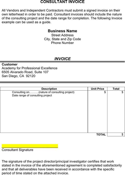 B Consulting Template by Consultant Invoice Template Templates Forms Pinterest