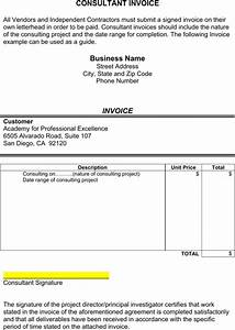 Consultant invoice template templatesforms pinterest for Consultancy invoice format