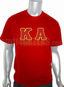 kappa alpha order screen printed t shirt with letters red With kappa alpha order letters