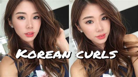 natural korean waves curls hairstyle mongabong youtube