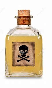 Glass Bottle Of Poison Royalty Free Stock Photo - Image ...