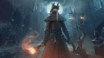 Bloodborne Dark Souls Wallpapers Moon Warrior Hunter