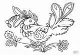 Petrykivka Coloring Vogel Bird Supercoloring Ausmalbild Ausmalbilder Printable Ukraine Kostenlos Animals Zum Kategorien sketch template