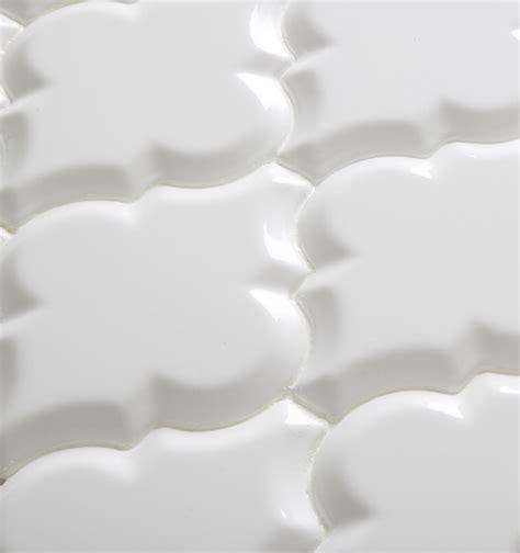 beveled arabesque tile arabesque whisper white glazed ceramic wall tile beveled