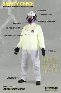 safety check ppe poster  asbestos abatement worker
