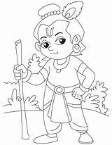 Krishna Coloring Lord Pages Baby Drawing Sketch God Easy Colouring Drawings Printable Step Pencil Little Bheem Draw Janmashtami Sri Shri sketch template