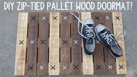 diy barn door diy zip tie pallet wood doormat