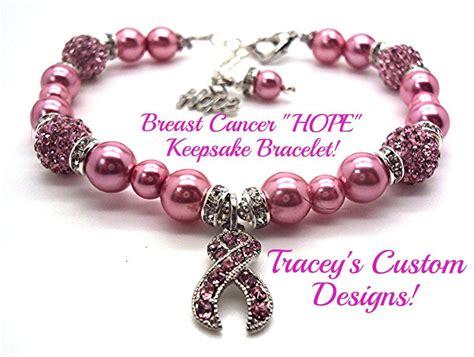 pearl breast cancer awareness bracelet custom made jewelry