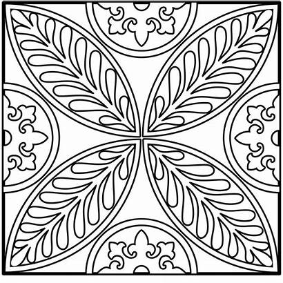 Coloring Mandala Pages Intricate Square Simple Easy