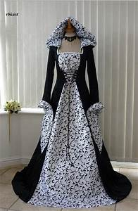 medieval handfasting gowns for a pagan bride With skull wedding dress for sale