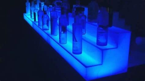 led lighted acrylic back bar liquor shelves