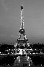 Black and White Eiffel Tower Paris France