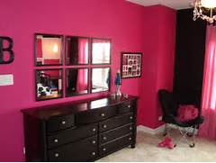 Dark Pink Bedroom Pink And Black Tween Bedroom Contemporary Chicago By Bree Hite