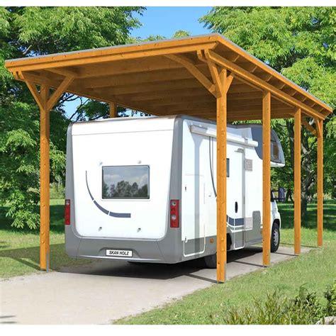Skan Holz Caravancarport Emsland 404x846 Cm Mit Erhöhter