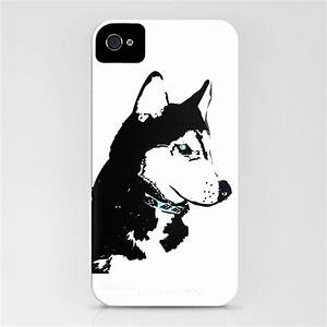 siberian husky dog on phone case