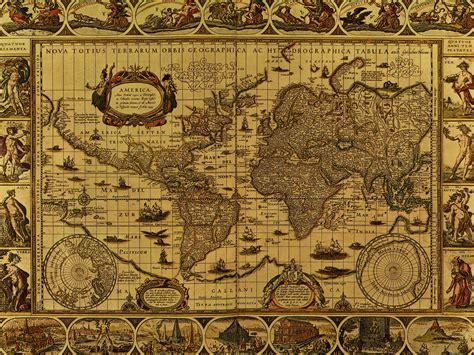 wood map wall wallpaper antique maps free wallpaper 1600