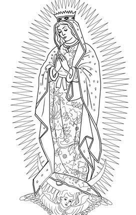 Our Lady of Guadalupe | Virgen de guadalupe, Dibujos de