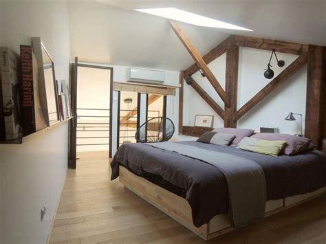 chambre avec poutre agréable idee deco chambre mansardee 1 d233co chambre