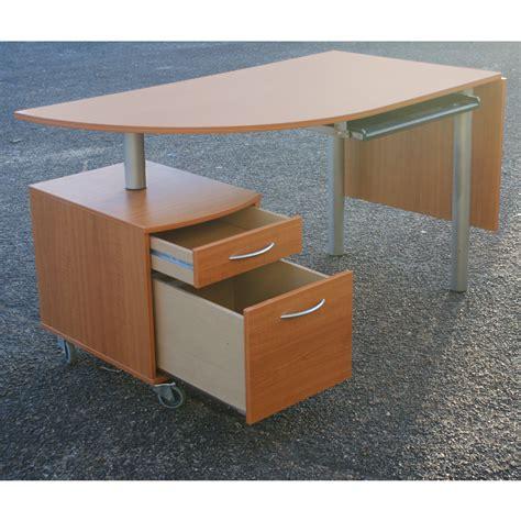 Desk Filing Cabinet On Wheels by Drop Leaf Wood Desk Swivel File Cabinet Casters Ebay