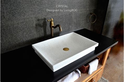 marble sink 24 quot pure crystal white marble bathroom vessel drop in sink crystal