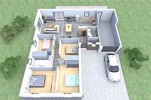 Plan de maison gratuit 4 chambres for Plan de maison gratuit 4 chambres