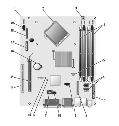 Dell Optiplex Motherboard Diagram Pictures Pin
