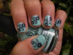Flower nail art designs acrylic