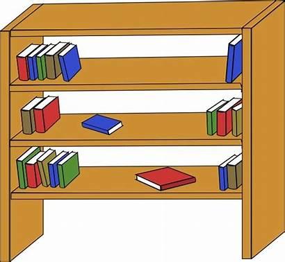 Library Clip Books Furniture Shelves Open Vector