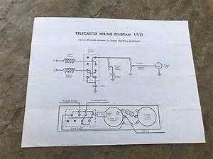 Vintage Fender Telecaster Wiring Diagram 1953